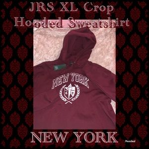 JRS Wild Fable Cropped Sweatshirt New York crimson